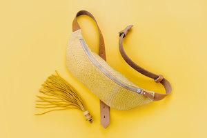 Сумка-бананка (на пояс) Желтый Лосось